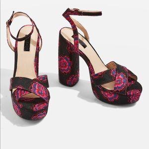 Topshop platform heel